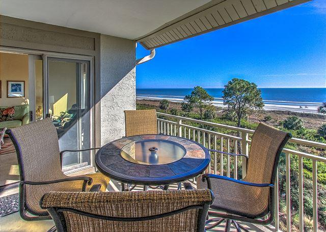 Patio/View - 510 Shorewood - Oceanfront, 5th Floor with Fabulous views - Hilton Head - rentals
