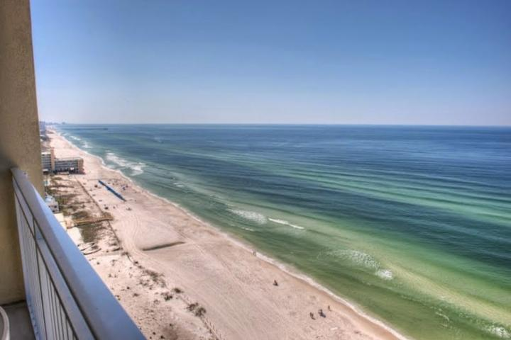 Beautiful Views from our spacious balcony. - 2128 Emerald Beach Resort - Panama City Beach - rentals