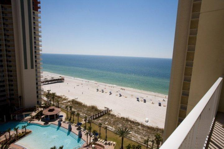 Actual View of the Gulf of Mexico from the balcony - 1208 Shores of Panama - Panama City Beach - rentals