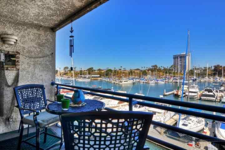 Patio with harbor view - Marina Del Mar - Harbor View 305B - Oceanside - rentals