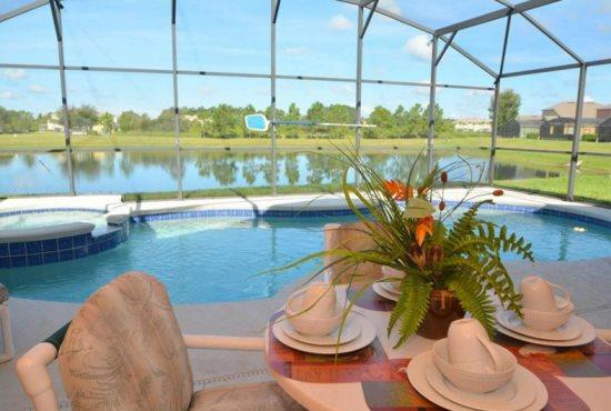 5 Bedroom Pool Home with Lake View. 17637WW - Image 1 - Kissimmee - rentals