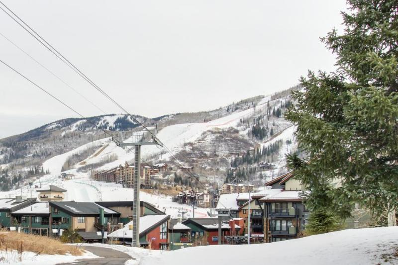 Top floor loft w/ shared pool & hot tub - just steps to Gondola Square - Image 1 - Steamboat Springs - rentals