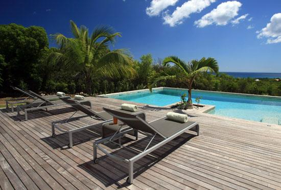 Spacious and elegant three-bedroom villa overlooking the Caribbean Sea - Image 1 - Terres Basses - rentals