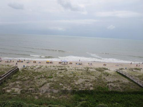 View from Oceanfront Balcony - Pelican Watch 606 - Carolina Beach - rentals