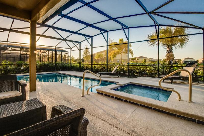 Modern home with a private pool & shared gym, just 11 miles from Disney! - Image 1 - Davenport - rentals