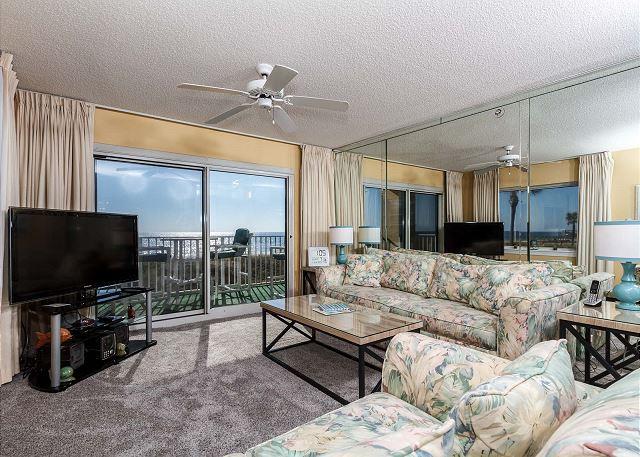 SL 101:Beautiful corner condo- large windows, beach front, free beach chairs - Image 1 - Fort Walton Beach - rentals