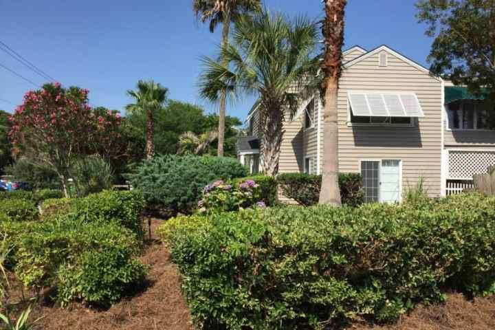 Landscaped Duplex Exterior - Cameron Blvd-2nd FL Duplex-Pvt Golf Cart-Close to Beach-Pet Friendly-IOP - Isle of Palms - rentals