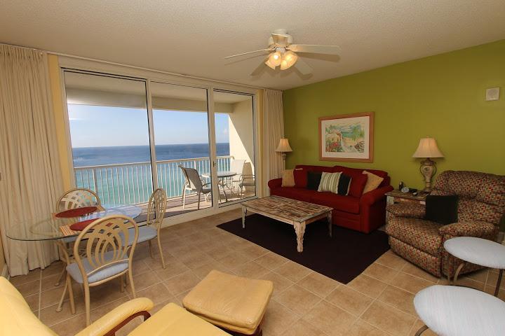 Living Area - Majestic Beach Resort  T1 Unit 1114 - Panama City Beach - rentals