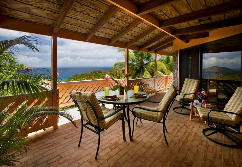Stone Cottage Porch - Stone Cottage - Ideal for Couples and Families, Beautiful Pool and Beach - Saint Thomas - rentals