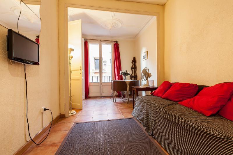 Living Room - Poble Sec-1: Centrally located budget apartment - Barcelona - rentals