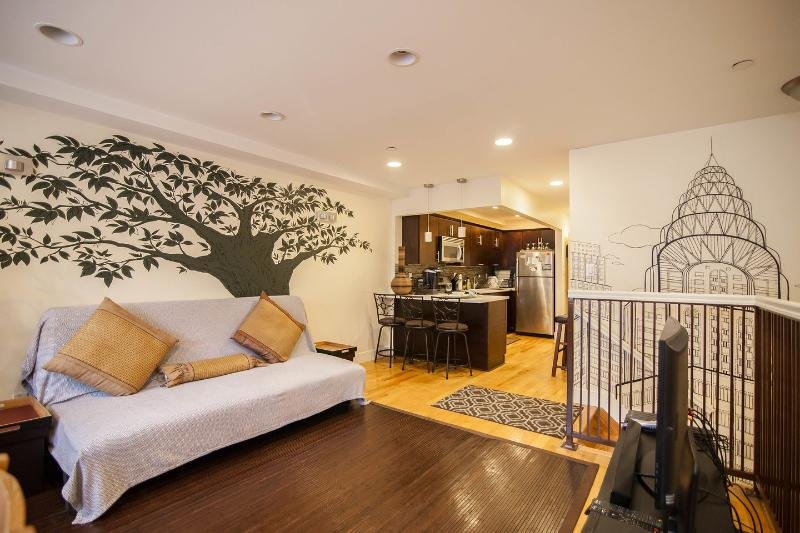Living Room - The Bushwick: 3BR 2BA Sleeps 8-12, NYC in 20 mins - Brooklyn - rentals