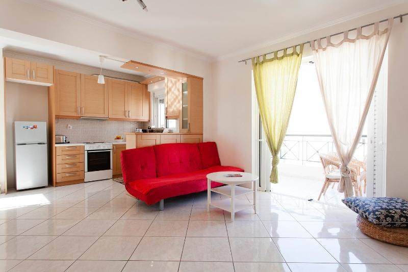 Living Room - Athens  modern family apartment, 2 bedroom,WIFI,AC - Athens - rentals