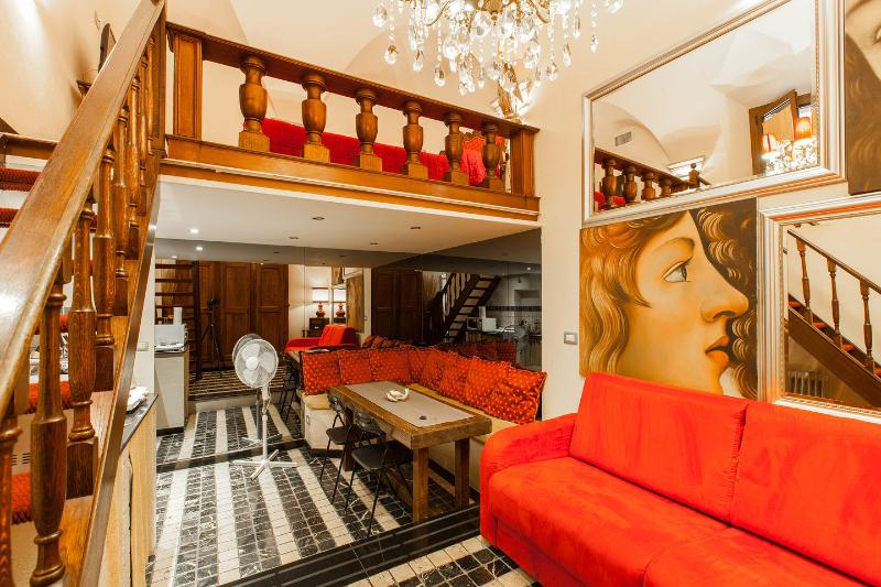 Living Area - Lovely Gold apartment in Rome center - Navona sq. - Rome - rentals