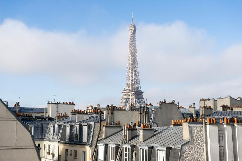 View - Relais Eiffel: Luminous one bedroom,4P with the view of Eiffel Tower - Paris - rentals