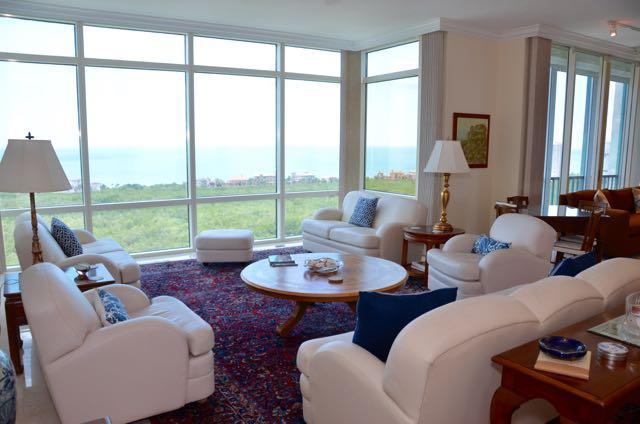 Living Room - The Claridge in Pelican Bay - Naples - rentals