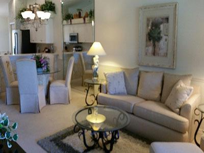 Living Room - Pinecrest IV at Stoneybrook - Estero - rentals