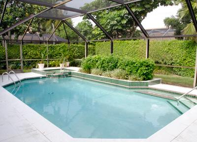 Pool and Spa at Far End - House in Pelican Bay - Naples - rentals