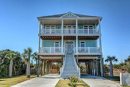 Current view of street side of home - 'Hakuna Matata - North Topsail Beach - rentals