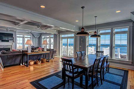 Dining Room with Ocean View - Island Drive 4160 - North Topsail Beach - rentals