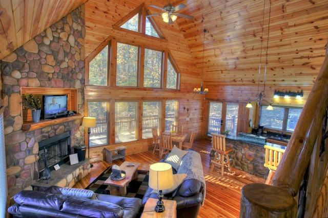 Fantastic Natural Wood  Open Great Room - Deer Crossing - Helen - rentals