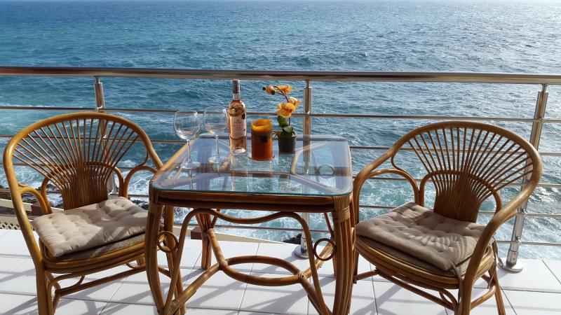 Ocean view from your balcony - Ocean front 30 feet from the stunning blue Ocean - Simpson Bay - rentals