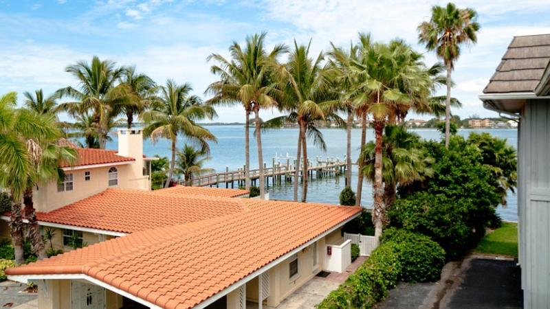 View from Living Room Balcony - Baywatch Bungalow: 2BR Condo w/ Pool and Dock - Bradenton Beach - rentals