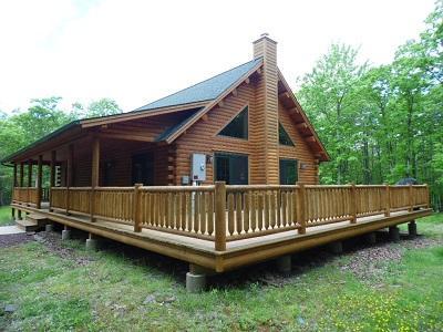 Main - Stunning Log Home Vacation Rental in Albrightsville - Albrightsville - rentals