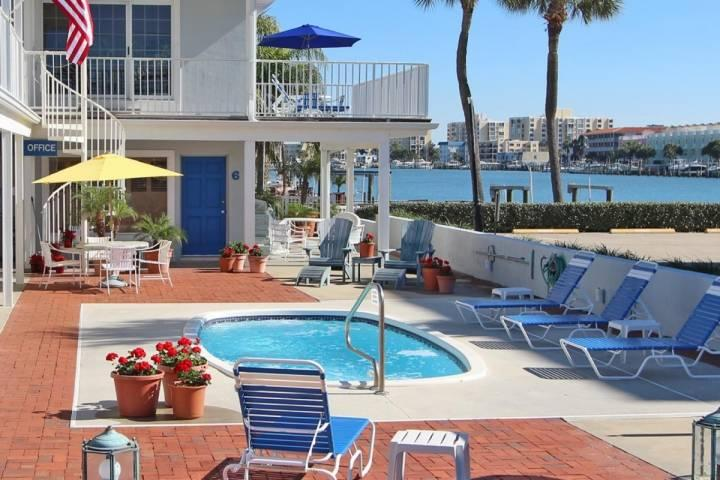 Community Pool Overlooking The Beautiful Clearwater Intercoastal - Unit #2 at The Beachouse - Clearwater - rentals