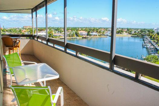 Balcony and View - SSE C-710 - South Seas East - Marco Island - rentals