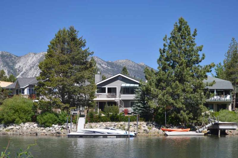 Exterior from Channel - 1928 Marconi  Way - South Lake Tahoe - rentals