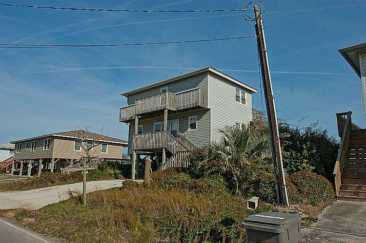Street side view of Beach House - Beach House - Marvelous View, Simple Design, Pet Friendly, Oceanfront Access - Surf City - rentals