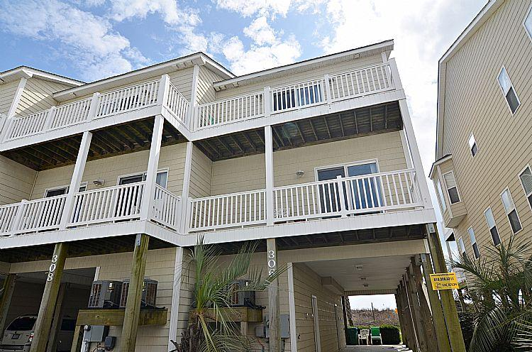Sea Star 306 Exterior - Ocean Devotion - Sea Star 306 - SAVE $150 off June weeks! - Surf City - rentals