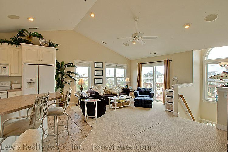 Living Room - Hang Time - Scenic Water View, Modern Amenities, Pet Friendly, Near Ocean - Surf City - rentals