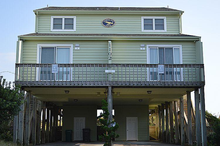 Street Side of House - Carolina Joy - Spectacular Oceanfront View, Direct Beach Access, Near Shopping - Surf City - rentals