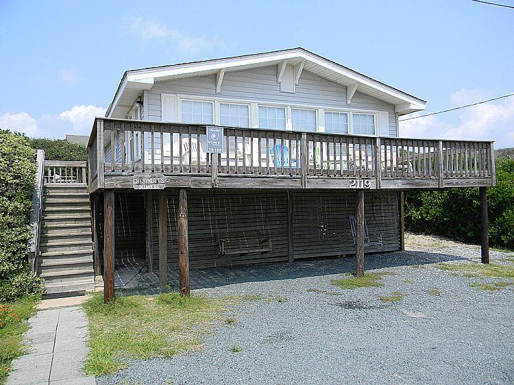 Street Side of House - Chestnut - Unobstructed Ocean View, Convenient Beach Access, Near Shopping - Surf City - rentals