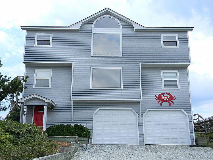 Street Side of House - Crabby Shack - Remarkable Ocean View, Direct Beach Access - Topsail Beach - rentals