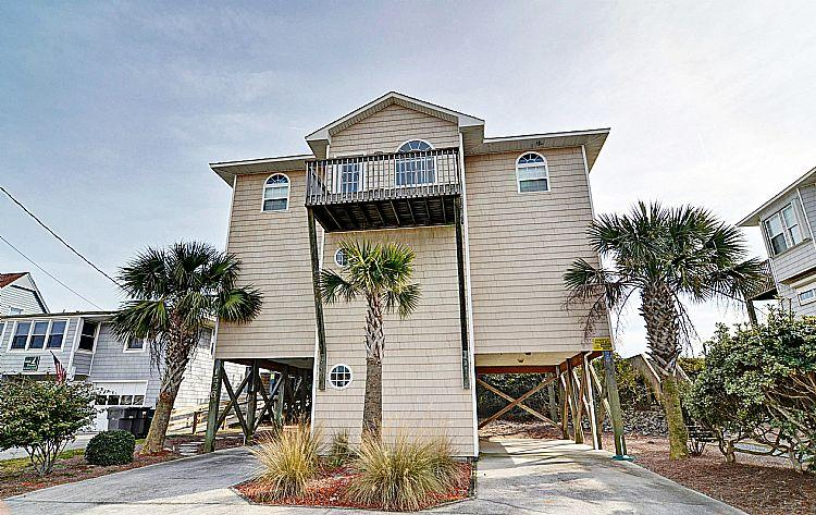 Street Side Exterior - Going Coastal - Alluring Oceanfront View, Pet Friendly, Direct Beach Access - Surf City - rentals