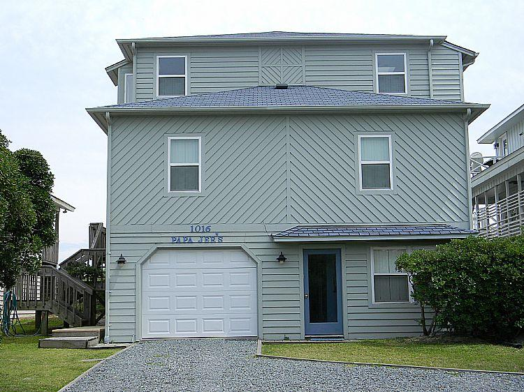 House Front - Papa Jer's - Incredible Oceanfront View, Convenient Location, Roomy Interior - Surf City - rentals