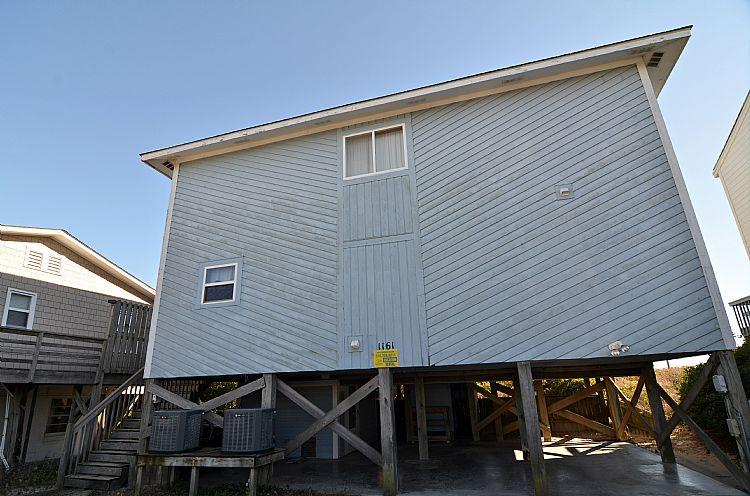 Street Side Exterior - Second Place - Incredible Oceanfront View, Wonderful Location, Classic Cottage - Topsail Beach - rentals