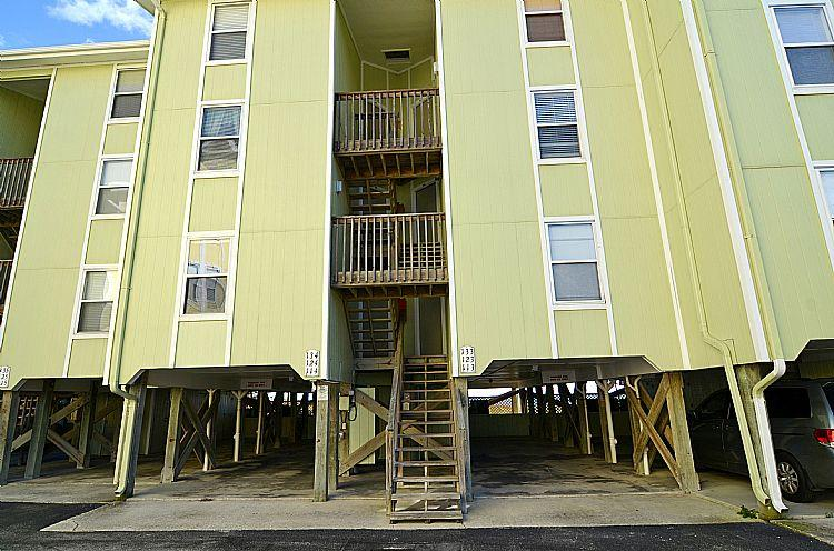 Exterior Front - Surf Condo 114 - SAVE UP TO $155 - Oceanfront with Pool and Beach Access - Surf City - rentals