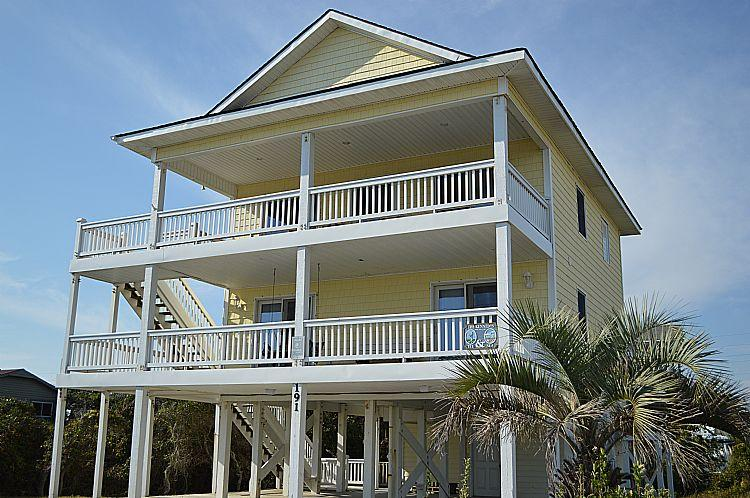 Tee & Sea - Tee & Sea - Unobstructed Ocean View, Convenient Beach Access, Colorful Interior, Quiet Area - North Topsail Beach - rentals