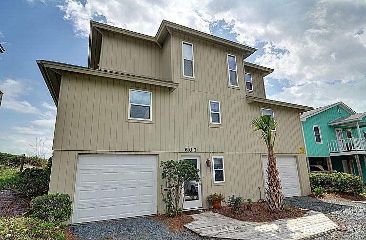 Street Side Exterior - Wayne's World - SAVE UP TO $200!! Oceanfront w/ Screened Deck & Garage Parking - Topsail Beach - rentals