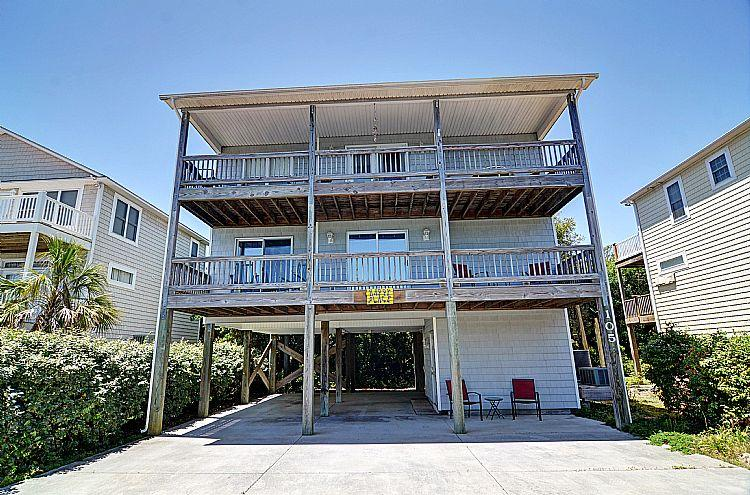 Front  - Happy Place -  Cheerful Interior, Pet Friendly, Elevator - Surf City - rentals