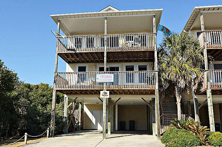 Exterior - License To Chill -  Adorable Ocean View home w/ Vibrant Decor! - Surf City - rentals