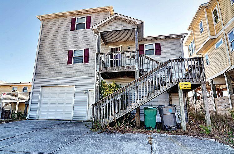 Street Side Exterior - Doyle's Solitude - Astounding Ocean View, Lovely Character, Direct Beach Access - Surf City - rentals