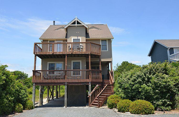 Exterior - Southern Wynds - Beautiful Ocean View, Cozy Home, Community Pool, Pet Friendly - North Topsail Beach - rentals