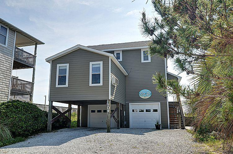 Front Exterior - Sea Ya-V - Awesome Oceanfront View, Nautical Decor, Convenient Location - Surf City - rentals