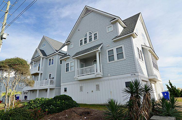 Exterior Front - Sea For Yourself - Fabulous Ocean View, Cheerful Decor, Hot Tub, Community Pool - North Topsail Beach - rentals