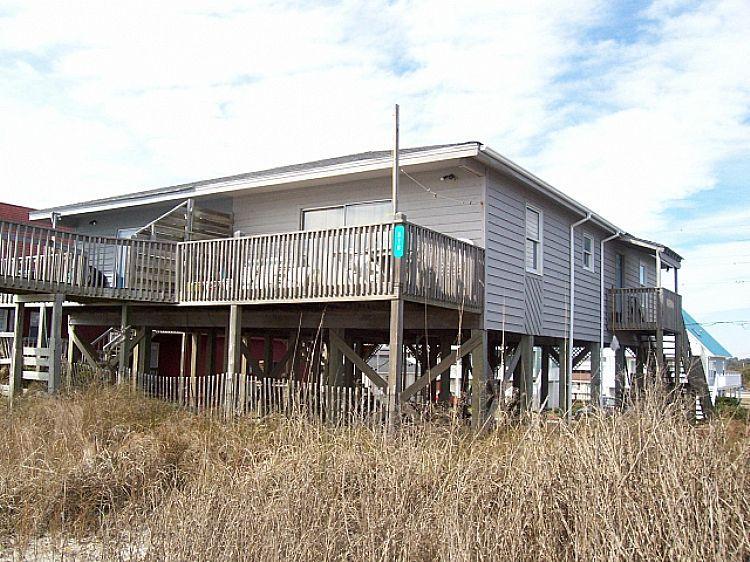 Exterior - Island Delights II - Excellent Oceanfront View, Pet Friendly, Simple Design - Surf City - rentals