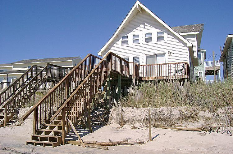 Exterior - Dune Nothing - SAVE UP TO $150! Stellar Ocean View, Beachy Interior, Quiet Area, Beach Access - North Topsail Beach - rentals